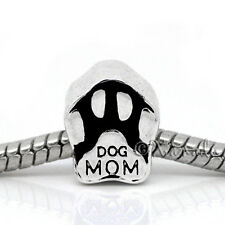 Dog Mom European Bead - Puppy Dog Paw Bead For All European Charm Bracelets