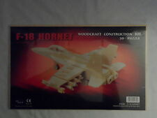 NEW F-18 HORNET WOODCRAFT CONSTRUCTION  KIT 3-D PUZZLE 1239