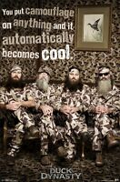 DUCK DYNASTY POSTER ~ CAMOUFLAGE COOL 22x34 TV Robertson Phil Willie Silas Jase