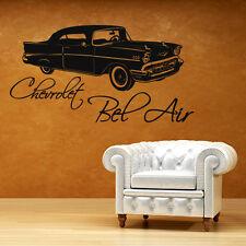 Wandtattoo Retro Car Chevrolet Bel Air Classic Aufkleber Wall Wand Tattoo #2008