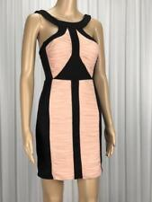 ** COOPER ST ** Sz 8 Black Nude Gathered Occasion Bodycon Dress - (B203)