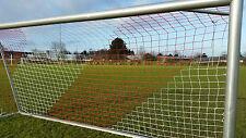 Fußball Tornetz 5x2m oben 80 unten 150 Stärke 3mm rot/ weiß