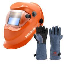 Auto Darkening Welding Helmet Arc Tig Mig Grinding Wide View Welder Maskgloves