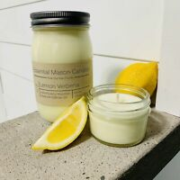 Scented Soy Wax Candle - Hand Poured & Highly Scented - Lemon Verbena
