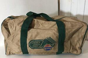 Vintage Pepsi Soda Duffle Bag Luggage 80s 90s Coca Cola New Jersey Horse Race