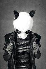 Cro Poster Outlines Panda B&W - Hochformat - schwarz-weiß - 61 x 91,5 cm