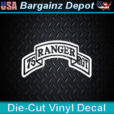 75th RANGER REGIMENT... Awesome Car Laptop Sticker Military Vinyl Decal