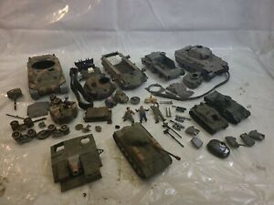 Vintage Lot Of Model Tanks Various Scales - Aurora Revell Monogram Airfix