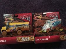 New Disney Cars 3 Lot Of 2 Crazy 8 Crashers Miss Fritter & Dr. Damage