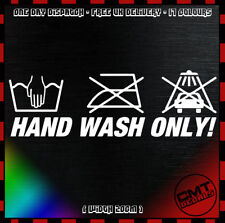 Hand Wash Only Car Decal Bumper Sticker Novelty Euro JDM Clean DUB - 17 Colours