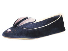 Ted Baker Women's Bhunni Navy Velvet Slippers Shoes