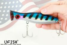 "Ufish Large 5"" Popper Lure, Fresh & Saltwater Popper Fishing Lure, Bass Bait"