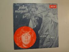 "JOHN MAYALL:(w/Peter Green)Jenny-Picture On The Wall-Holland 7""68 Decca 15096PSL"