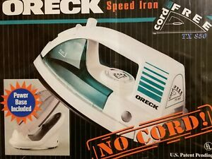 NEW SEALED TX 850 ORECK CORDLESS SPEED IRON W/POWER BASE HEATS IN 1 MINUTE