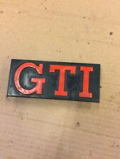 VW GOLF MK1 MK2 GTI FRONT GRILL BADGE LOGO RARE 171853679