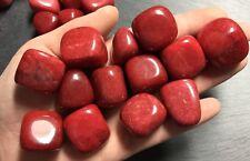 x2 Red Jade (China) Tumbled Crystals 20mm Base Root Chakra Dreams Protection