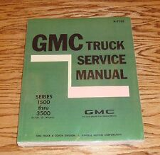 1971 GMC Truck Service Shop Manual Series 1500-3500 71 Pickup