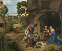 PAINTING GIORGIONE ADORATION OF THE SHEPHERDS XXL POSTER WALL ART PRINT LLF0282
