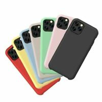 Soft Liquid Silicone Shockproof Matte Back Case Phone Cover For Apple iPhone