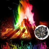 HB- Magic Fire Powder Coloured Rainbow Flames Bonfire Fireplace Pit Patio Toy Ea