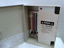 CCTV Power Supply Box Distribution Unit 18 Ports Output PTC Fuse 12V DC 20Amp