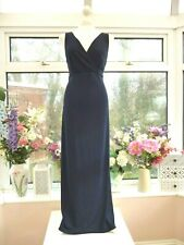 STUNNING *JOSEPH RIBKOFF* SEXY NAVY BLUE PLISSE COCKTAIL PARTY MAXI DRESS Sz L