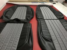 Valiant Vj Charger Fronts Only Seat Covers,black Chrysler Robuck Houndstooth