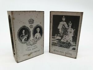 A Pair of Bryant & May 1935 Silver Jubilee Matchbox Covers - Vintage Condition