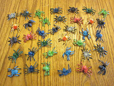 "30 NEW TOY SPIDERS FAKE CREEPY SPIDER HALLOWEEN PROP 2"" SIZE PARTY FAVOR PRANK"
