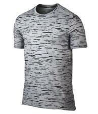 Nike  Dry Top Tailwind Print Kurzarm Shirt  Gr. M  grau  800808-012