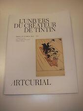 Catalogue vente L'UNIVERS DU CRÉATEUR DE TINTIN HERGÉ