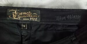 French connection womens jeans 8 / 30 inch waist  Colour is black.  (#094)