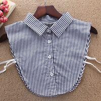 Women Ladies Girls Vest Fake Collar Neck Decoration Fake Shirt Detachable Collar