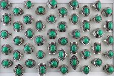 Wholesale Lots 30pcs Mixed Design Green Natural Stone Women Lady's Rings Free P