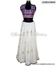 Bollywood Designer Indian Pakistani-Purple white lehenga set