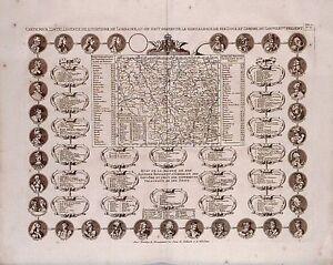 Antique map, Carte ... de Lorraine