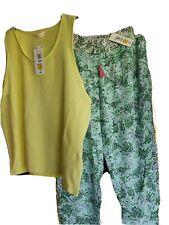 M&S Marks Spencer Women Ladies Cotton PJs PYJAMA PANTS & TOP Loungewear size 16