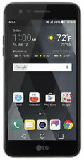 At&t Prepaid LG Phoenix 3 16gb Smartphone Black Cracked screen Clean IMEI (1-2-4