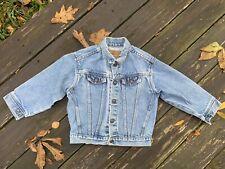 Vintage Orange Tag 80's Little Levi's Sz 6 Denim Jacket Made In Usa 74027 Exc