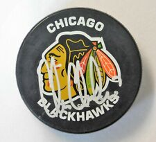 Chris Chelios Chicago Blackhawks Signed Hockey Puck JSA Authenticated