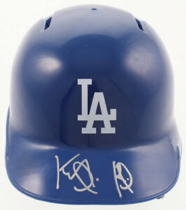 Keibert Ruiz Signed Los Angeles Dodgers Mini Helmet JSA
