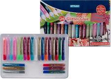 Glitter Glue 24 Tuben Glitzerstifte Gelstifte Basteln à 10 ml von Stylex NEU