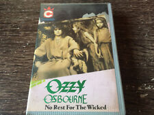 OZZY OSBOURNE - No Rest For The Wicked CASSETTE TAPE Black Sabbath