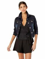 CG Jeans Women's Jeans Denim Jacket Crop Frayed Blue Distressed Or Dark Basic