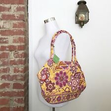 New Vera Bradley Angle Tote Bag Retired Bali Gold Pockets Zip Top Close Purse