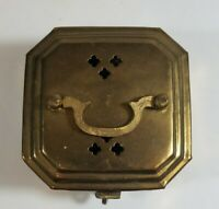 Vintage Brass Trinket Box Tea / Potpourri / Jewelry Holder Box Made In India