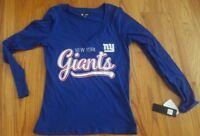 New York Giants Women's Shirt Size Large Long Sleeved Football NFL