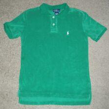 Boys Small S 8 10 Vintage Polo Ralph Lauren Terrycloth Pullover Collar SS Shirt