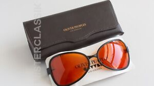 Oliver Peoples OP-524 col Black with Fight Club Tangerine lenses size 61-18