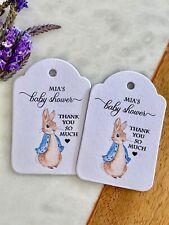 Peter Rabbit Baby Shower Tags Personalised Custom Sprinkle Party Birthday